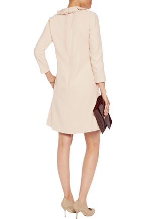 GOAT Camille ruffle-trimmed wool-crepe mini dress