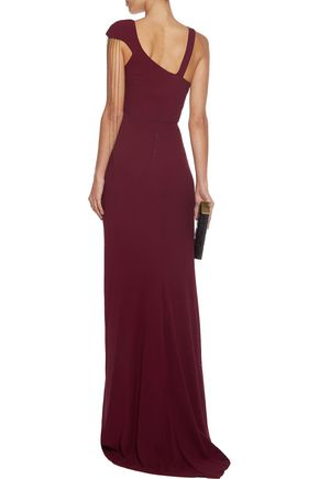 MARIA GRACHVOGEL Layla bead-embellished crepe gown