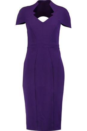 SAFIYAA Cutout stretch-crepe dress