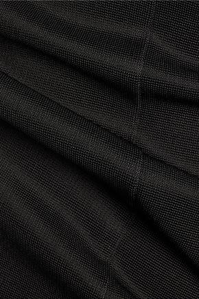 SAFIYAA Open-knit paneled ponte dress
