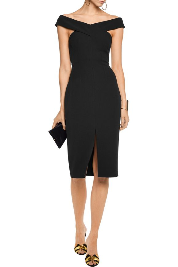 Cross-front stretch-crepe dress | SAFIYAA | Sale up to 70% off | THE OUTNET