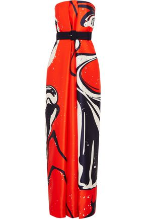 SOLACE LONDON Hannah printed twill gown