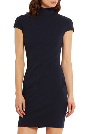 SOLACE LONDON Alana stretch-crepe turtleneck mini dress