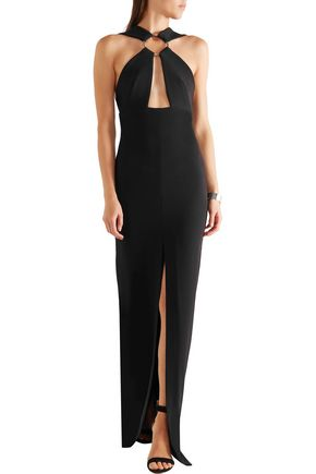 SOLACE LONDON Kali cutout crepe gown