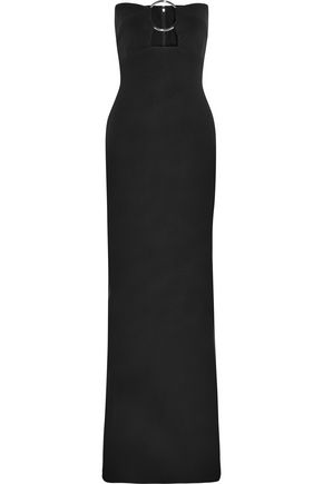 SOLACE LONDON Keira embellished cutout maxi dress