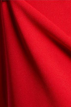 JOSEPH Gloria embroidered crepe midi dress