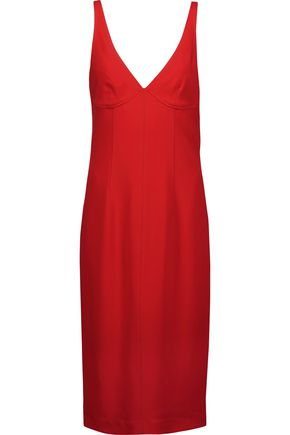 JOSEPH Gloria embroidered crepe midi dress