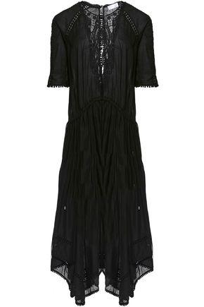 ZIMMERMANN Chroma lace-paneled cotton-voile midi dress