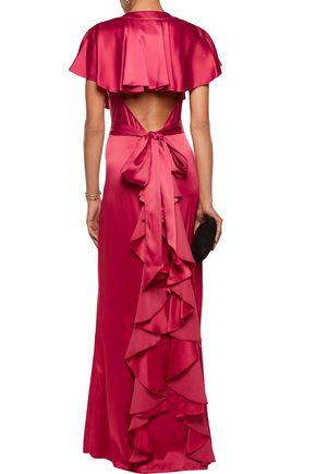 TEMPERLEY LONDON Luna ruffled cutout satin gown
