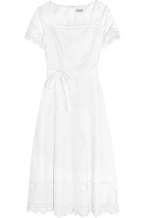 TEMPERLEY LONDON Bellanca embroidered cotton-poplin dress