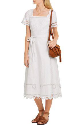 TEMPERLEY LONDON Bellanca embroidered cotton-poplin dress