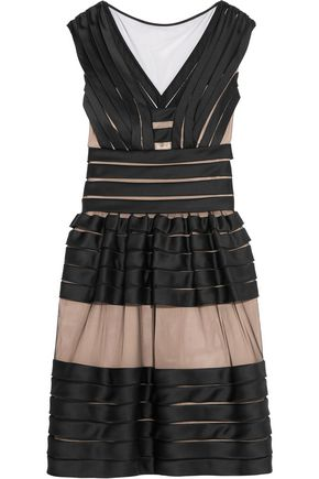 TEMPERLEY LONDON Lilith satin and tulle mini dress