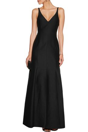 HALSTON HERITAGE Cotton and silk-blend gown