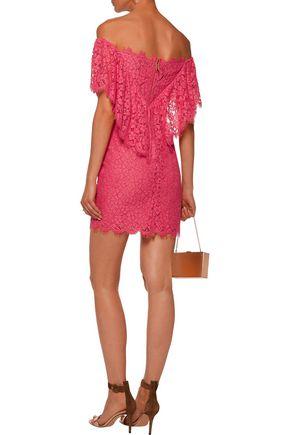 RACHEL ZOE Adelyn off-the-shoulder lace mini dress