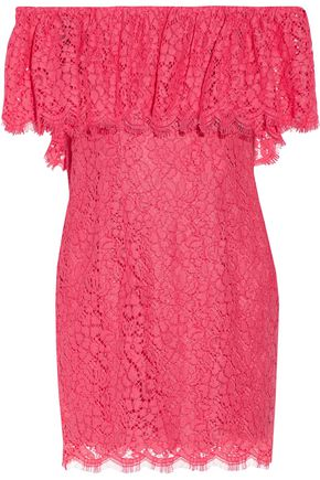 RACHEL ZOE Adelyn off-the-shoulder lace mini dress