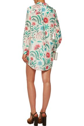 RACHEL ZOE Lela printed cotton and silk-blend mini dress