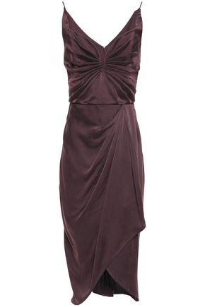 ZIMMERMANN Draped washed-silk dress