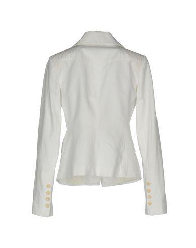 Фото 2 - Женский пиджак  белого цвета