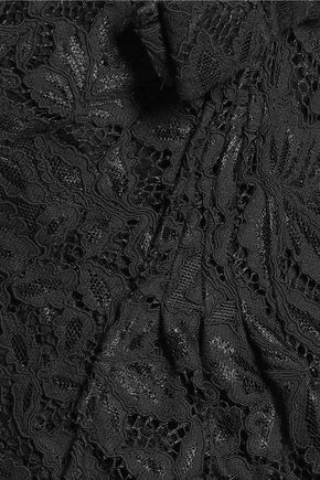 MIKAEL AGHAL Corded lace gown