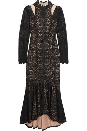 MIKAEL AGHAL Guipure lace and tullle dress