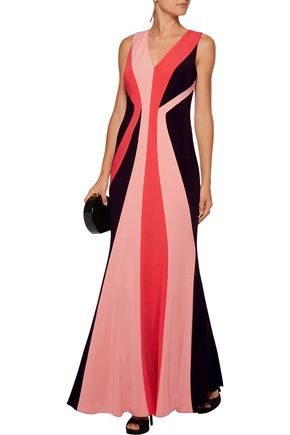 MIKAEL AGHAL Color-block ponte gown