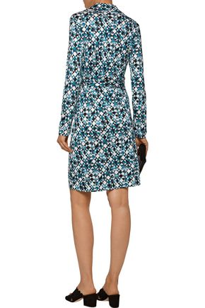 DIANE VON FURSTENBERG Jeanne printed silk wrap mini dress