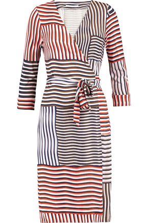 DIANE VON FURSTENBERG New Julian wrap-effect striped silk dress
