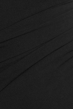 DIANE VON FURSTENBERG Ruched crepe mini dress