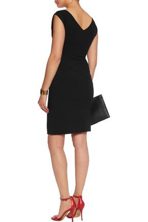 DIANE VON FURSTENBERG Ruched crepe mini dress