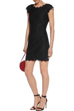 DIANE VON FURSTENBERG Barbara corded lace mini dress