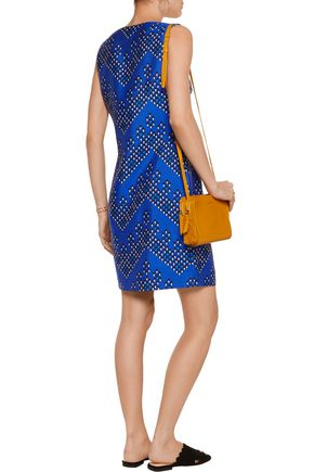 DIANE VON FURSTENBERG Sofia printed wool and silk-blend mini dress