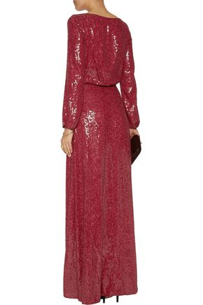 DIANE VON FURSTENBERG Delani sequined silk maxi dress
