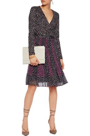 DIANE VON FURSTENBERG Caprice wrap-effect printed silk-jersey and silk-crepe mini dress