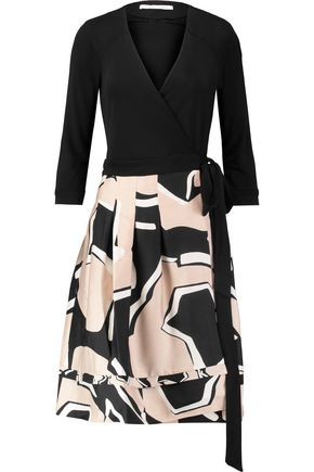 DIANE VON FURSTENBERG New Jewel stretch-knit and printed wool and silk-blend wrap dress