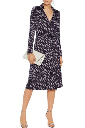 DIANE VON FURSTENBERG Cybil printed silk-crepe wrap dress