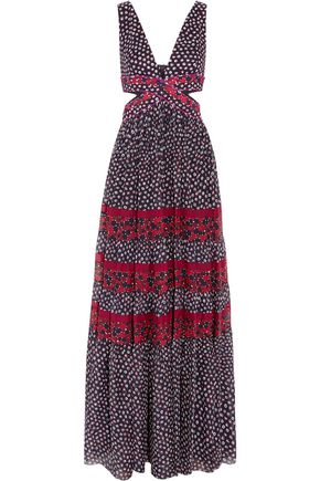 DIANE VON FURSTENBERG Altessa cutout printed silk-jersey maxi dress