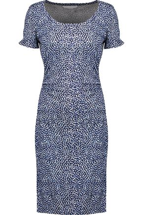 DIANE VON FURSTENBERG Marybeth gathered printed silk dress