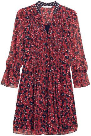 DIANE VON FURSTENBERG Kourtni printed silk-georgette mini dress
