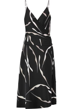 DIANE VON FURSTENBERG Wrap-effect printed silk-blend dress