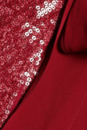 DIANE VON FURSTENBERG Brenndah wrap-effect sequined silk dress