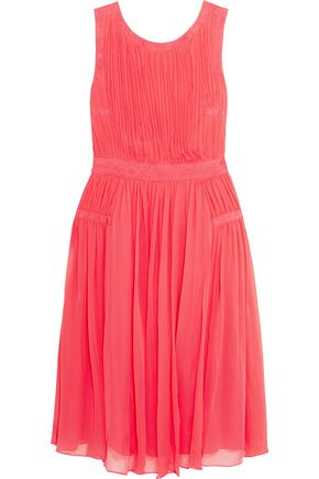DIANE VON FURSTENBERG Letty plissé silk-chiffon dress