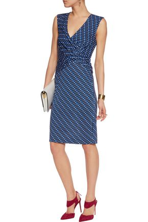 DIANE VON FURSTENBERG Wrap-effect printed silk-crepe dress