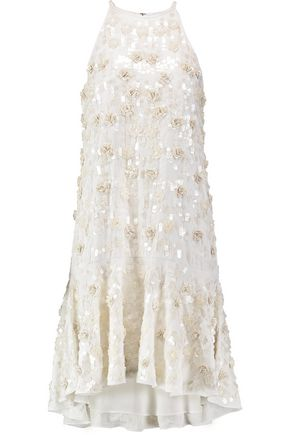DIANE VON FURSTENBERG Kera sequin-embellished crepe dress