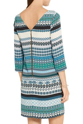 DIANE VON FURSTENBERG Avery printed stretch-silk mini dress