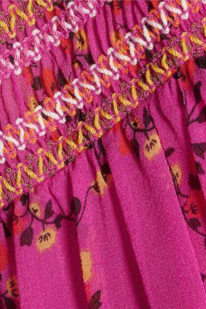 DIANE VON FURSTENBERG Bali floral-print silk-georgette dress