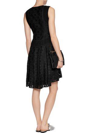 DIANE VON FURSTENBERG Cotton-blend macramé lace mini dress