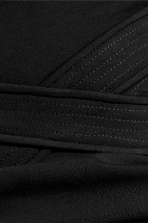DIANE VON FURSTENBERG Evita paneled ponte mini dress