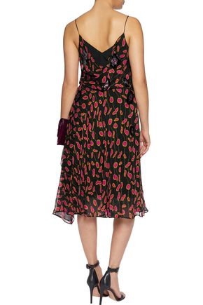 DIANE VON FURSTENBERG Benita wrap-effect printed silk-georgette dress