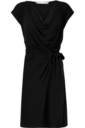 DIANE VON FURSTENBERG Draped wrap-effect jersey mini dress