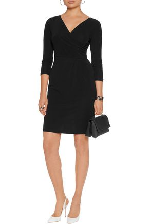DIANE VON FURSTENBERG Calista wrap-effect jersey mini dress